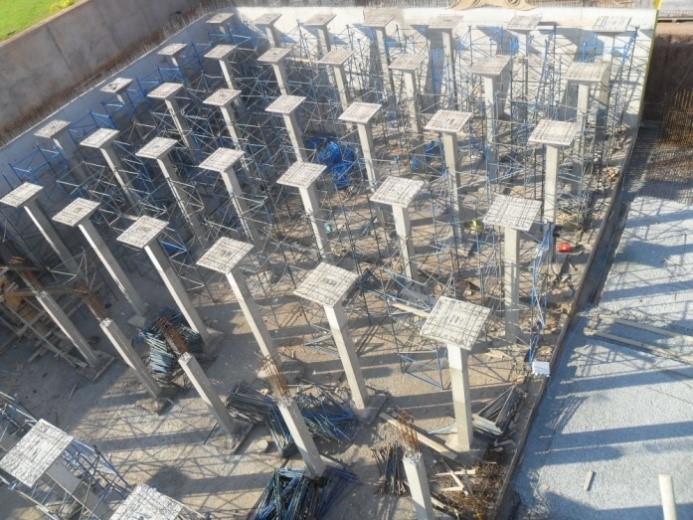 Travaux construction et équipement d'un réservoir semi-enterré de capacité 30 000 m3